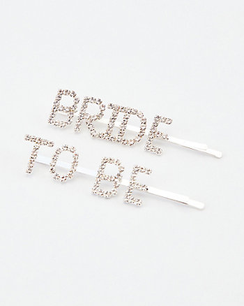 Bride-To-Be Hair Clips Set