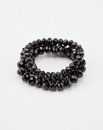 Ensemble de quatre bracelets de perles