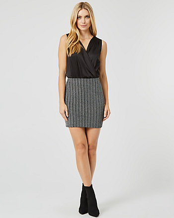 Stripe Sparkle Knit Mini Skirt