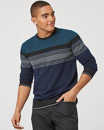 Chandail rayé en tricot