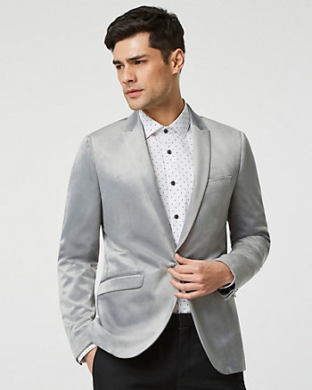 Velvet Peak Lapel Contemporary Fit Blazer
