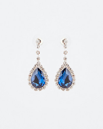 Gem Encrusted Tear Drop Earrings