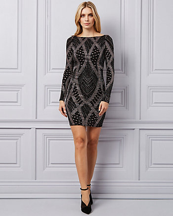 Sparkle Knit Boat Neck Dress