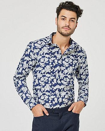 Floral Print Cotton Slim Fit Shirt