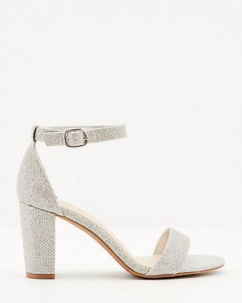 Glitter Mesh Open Toe Sandal
