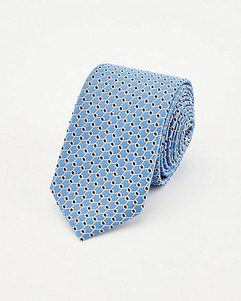 Geo Print Silk Tie