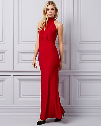 Knit Halter Neck Gown