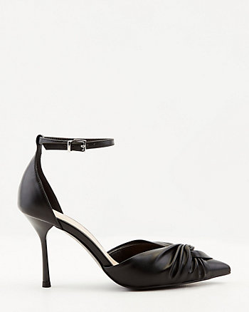 Knotted Pointy Toe d'Orsay Pump