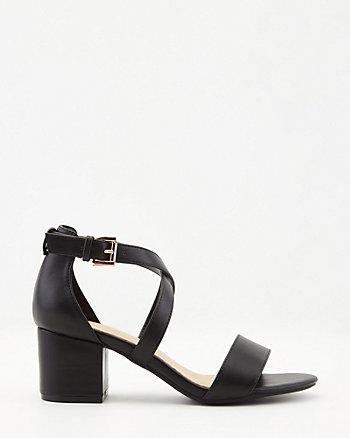Faux Leather Open Toe Sandal