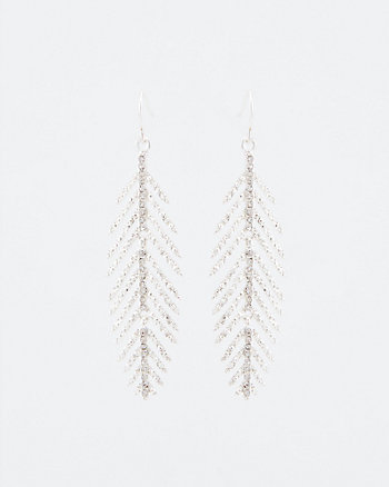 Gem Encrusted Leaf Earrings