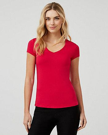 Knit Deep-V T-Shirt