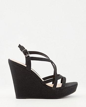 Sandale en maille filet scintillante