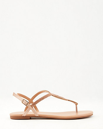 Jewel Embellished Satin Sandal