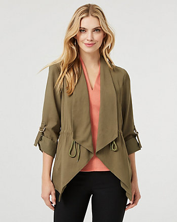 Cotton Blend Waterfall Blazer