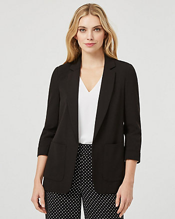 Notch Collar Relaxed Fit Blazer