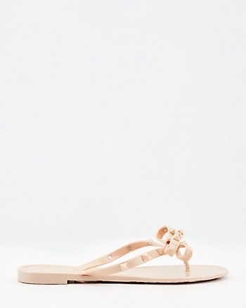 Double Bow Jelly Sandal