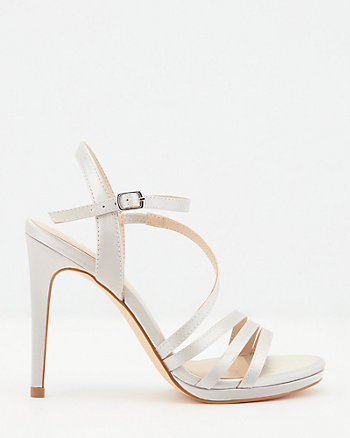 Satin Open Toe Strappy Sandal