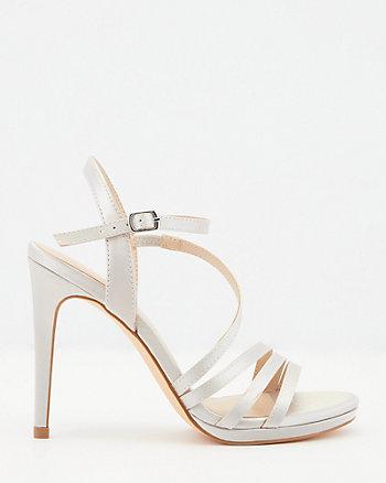 Satin Open Toe Strappy Sandal
