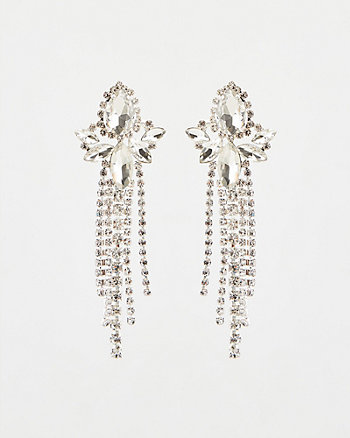 Gem Encrusted Fringe Chandelier Earrings