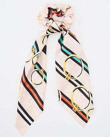 Stripe Scrunchie Scarf