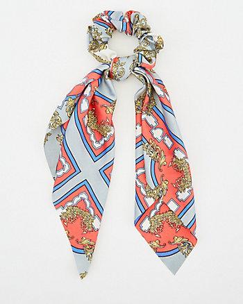 Victorian Print Scarf Scrunchie