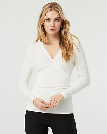 Knit Wrap-Like Top