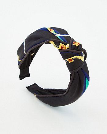 Stripe Knotted Scarf Headband