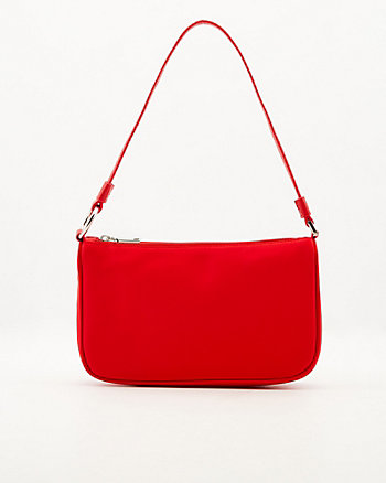 Faux Leather & Lycra Shoulder Bag