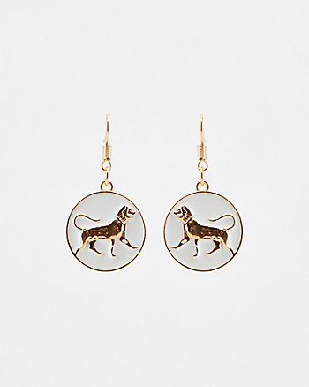 Lion Coin Earrings