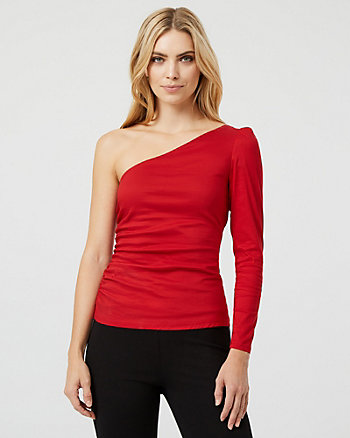 Stretch One-Shoulder Blouse