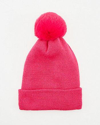 Tuque à pompon en tricot
