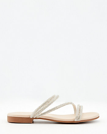 Jewel Embellished Slide Sandal