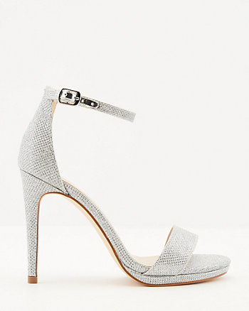 Glitter Mesh Ankle Strap Platform Sandal