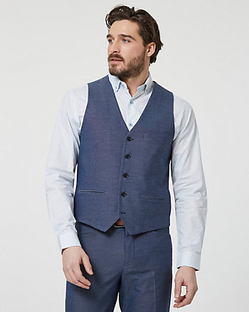 Viscose Blend Contemporary Fit Vest
