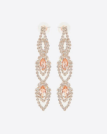 Gem Encrusted Chandelier Earrings