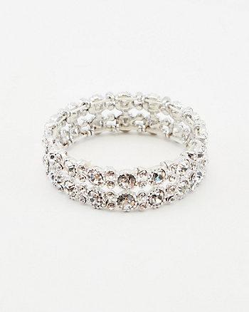 Bracelet extensible serti de pierres