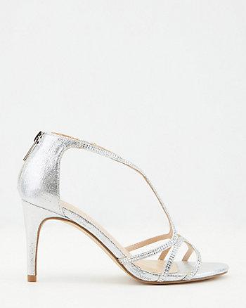 Jewel Embellished Faux Suede Sandal
