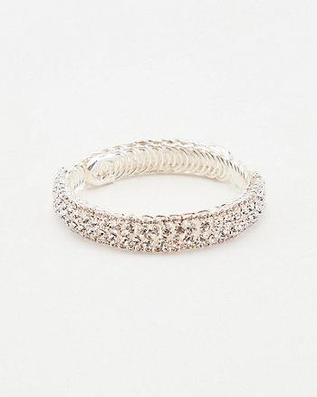 Gem Encrusted Coil Bracelet