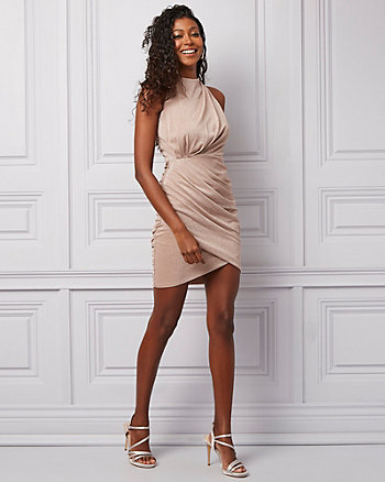 Sparkle Knit Wrap-Like Dress