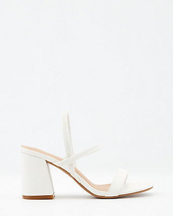Faux Leather Square Toe Sandal