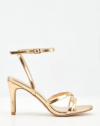 Strappy Faux Leather Sandal