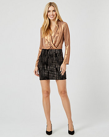 Sparkle Velvet Mini Skirt