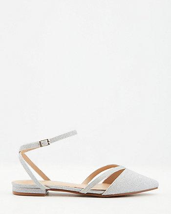 Glitter Pointy Toe Flat
