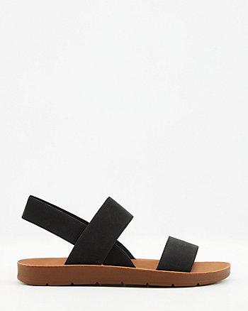 Elastic Slingback Sandal