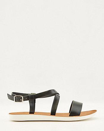 Sandale à lanières en similicuir