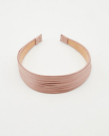 Pleated Faux Leather Headband