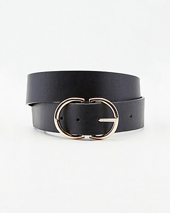 Faux Leather Circle Belt