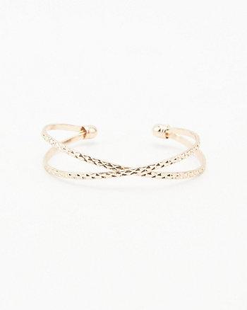 Etched Criss-Cross Bracelet