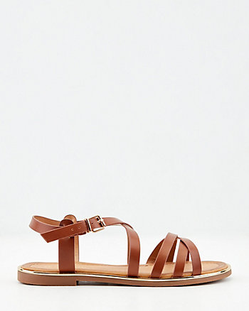 Faux Leather Strappy Sandal