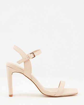 Sandale à bout carré en similicuir